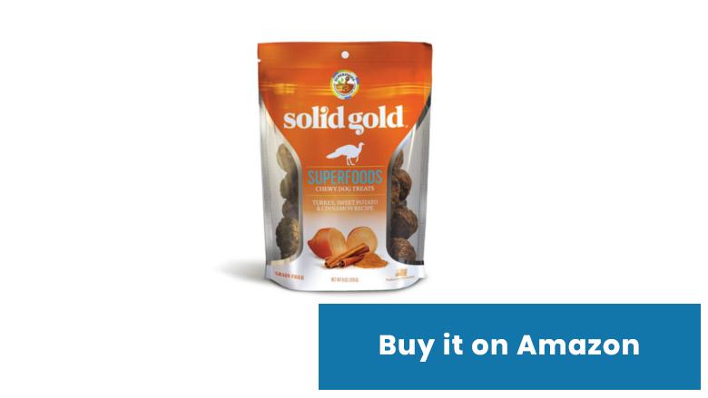 solid gold pumpkin dog treats