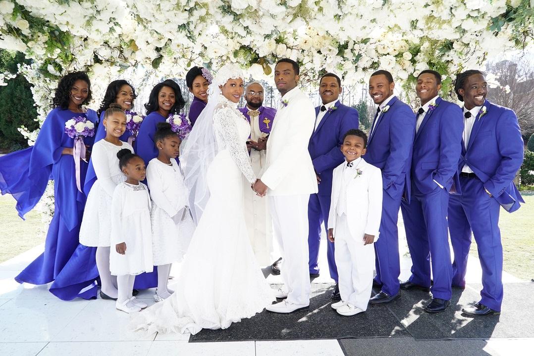 Bobby Brown and Whitney Houston Wedding