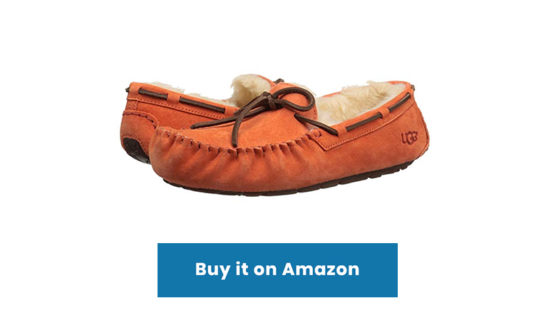 UGG rust sheepskin shearling moccasin slippers