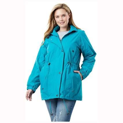 blue washable anorak jacket