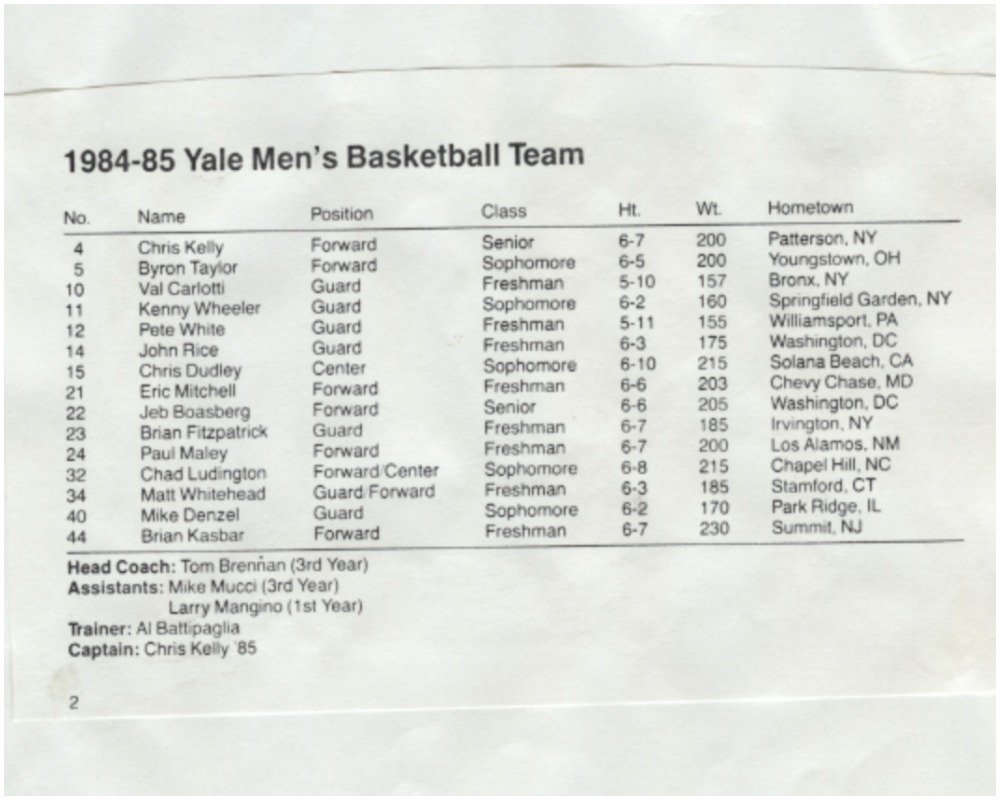 chad ludington yale basketball