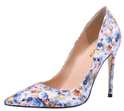 Women's Glitter Heeled Dress Pumps Shoes