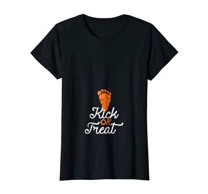 kick or treat t-shirt pregnancy halloween