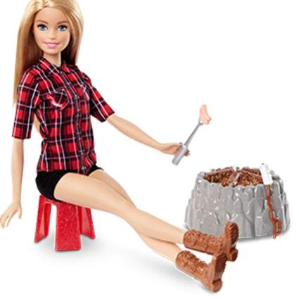 barbie sis campfire doll