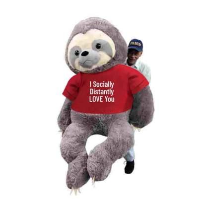 7-foot tall stuffed animal sloth