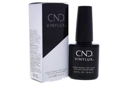 Black bottle of CND Vinylux with box