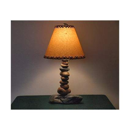Lamp made from stones