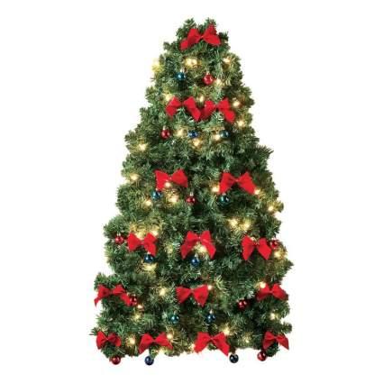 Flat wall mounted christmas tree