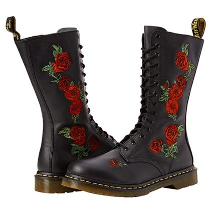 Dr. Martens 14 hole embroidered boot