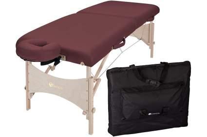 Burgundy Earthlite massage bed