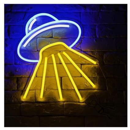 Neon spaceship light