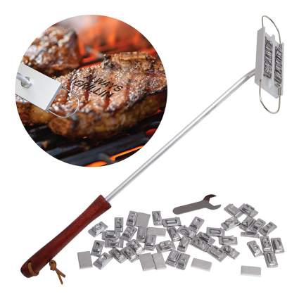 Branding iron for meat