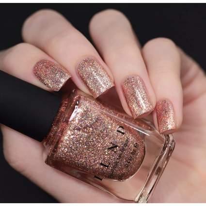Rose gold ILNP nail polish swatch
