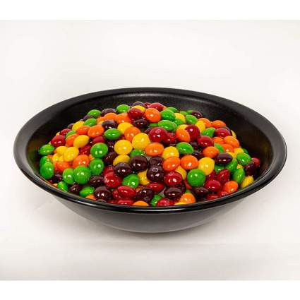 Bowl of Skittles candy