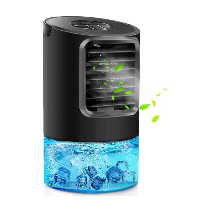 Black desktop air conditioner