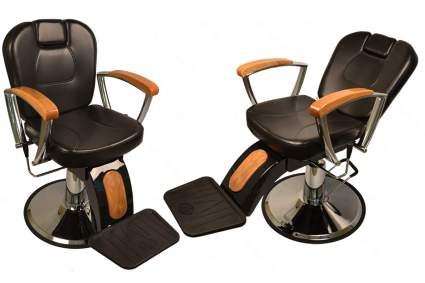 LCL Beauty wood and black barber chair
