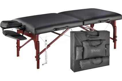 black heated massage table