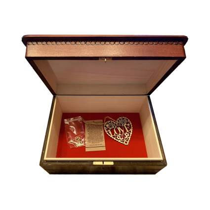 MilmaArtGift Large Wooden Keepsake Box with Lock and Key