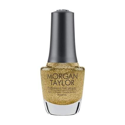 Gold glitter polish from Morgan Taylor