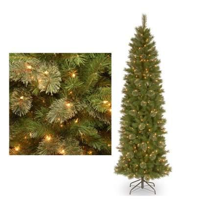 Pre lit skinny christmas tree