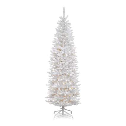 White skinny christmas tree