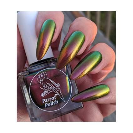 Green to bronze multichrome polish
