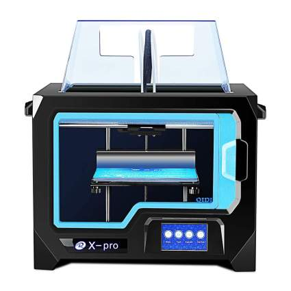 Blue and black 3D printer