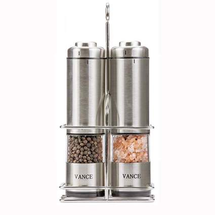 electric salt and pepper grinder set