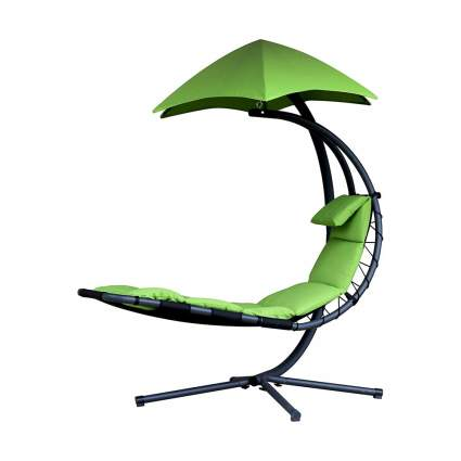 Green hanging chaise