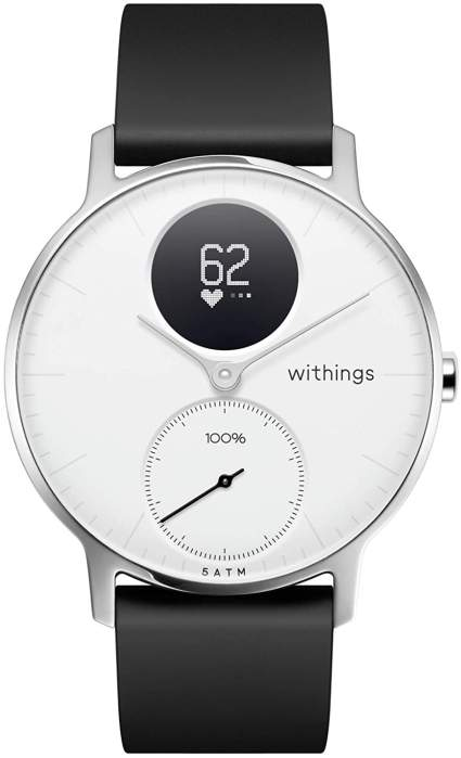 Black and white smartwatch