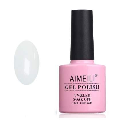 White Aimeili nail polish in pink bottle