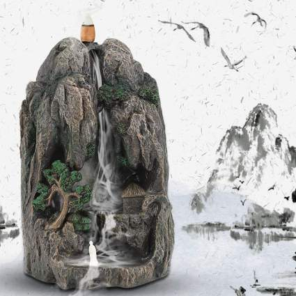 Backflow incense burner mountain