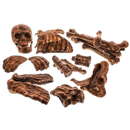 a pile of brownish fake body parts