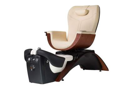 Elegant tan and black pedicure spa chair