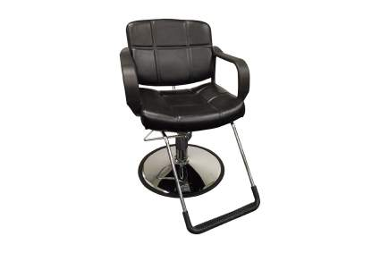 Simple black faux leather hydraulic chair