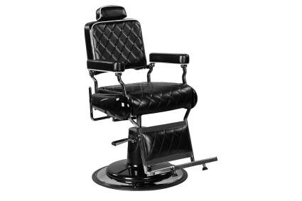 Quilted black salon chair for barbershop
