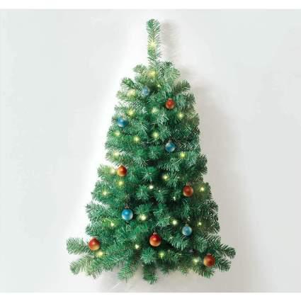 Light green wall mounted Christmas tree