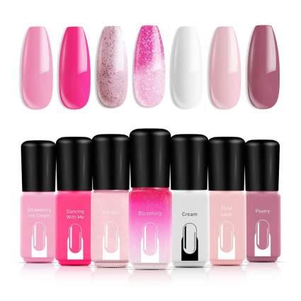Modelones pink nail polish