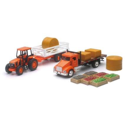 toy tractors with toy crops
