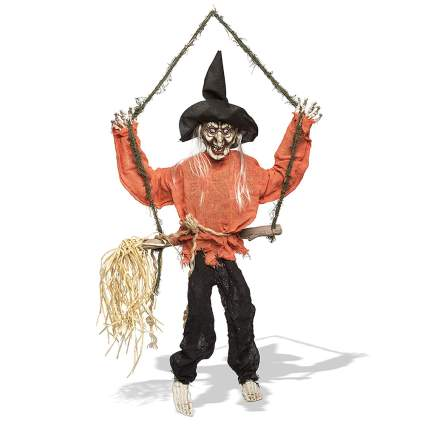 hanging witch decoration