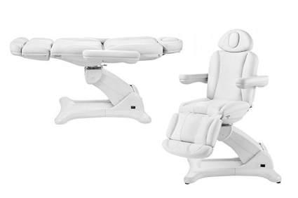 White electric facial chair