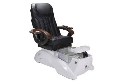 White and black pedicure spa chair