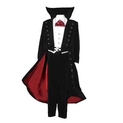 Opera suite with black and red cape