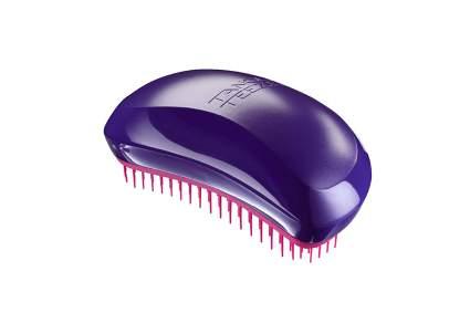 purple hair brush