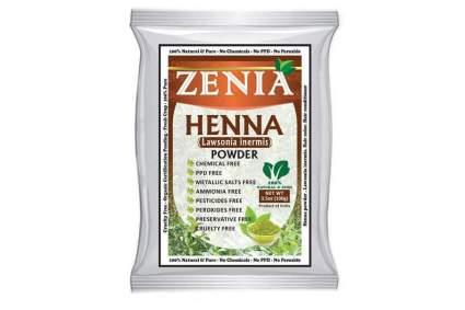 White packet of Zenia henna