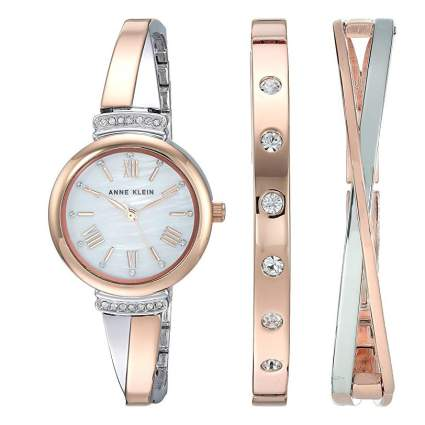 anne klein watch bangle set