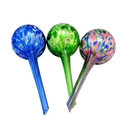 Aqua Globe Mini — 3 Pack — Decorative Hand-Blown Glass Small Plant Watering Bulbs