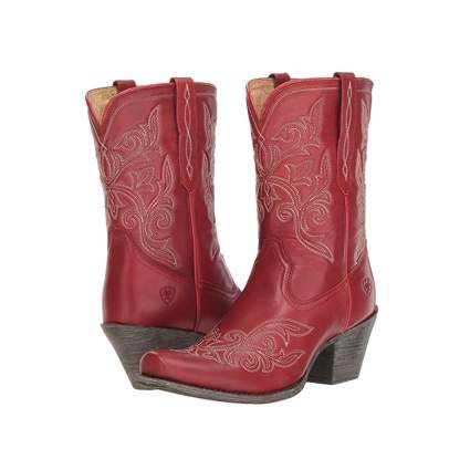 Ariat women's red cowboy boots