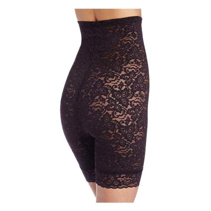 black lace thigh and tummy shaper