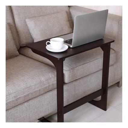 bamboo sofa snack table